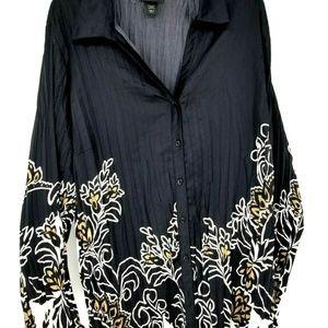 Lane Bryant Tops - Lane Bryant Button Blouse Top Shirt Plus SZ 26/28
